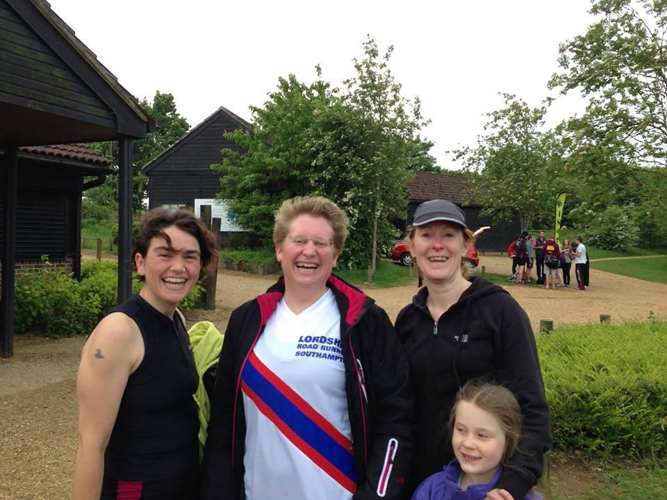 Katherine, Liz and Teri after completing Eastleigh aquathlon (May)