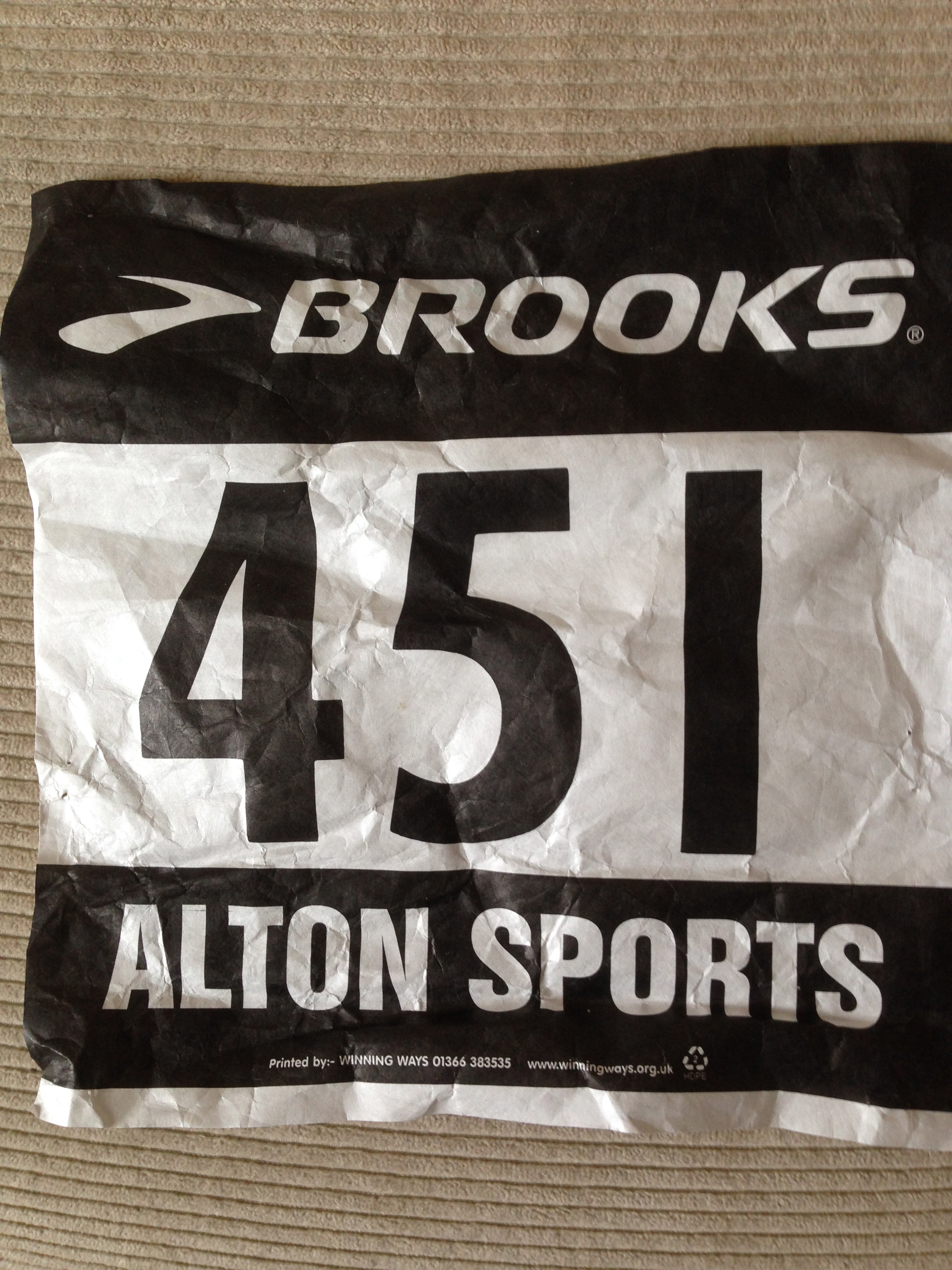 Overton 2013 race number