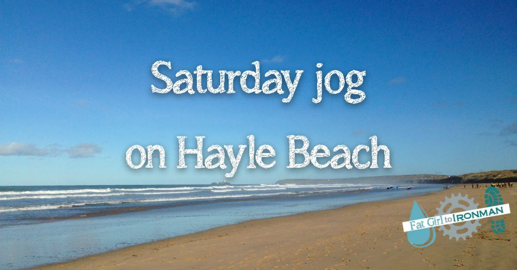 View of Hayle beach.