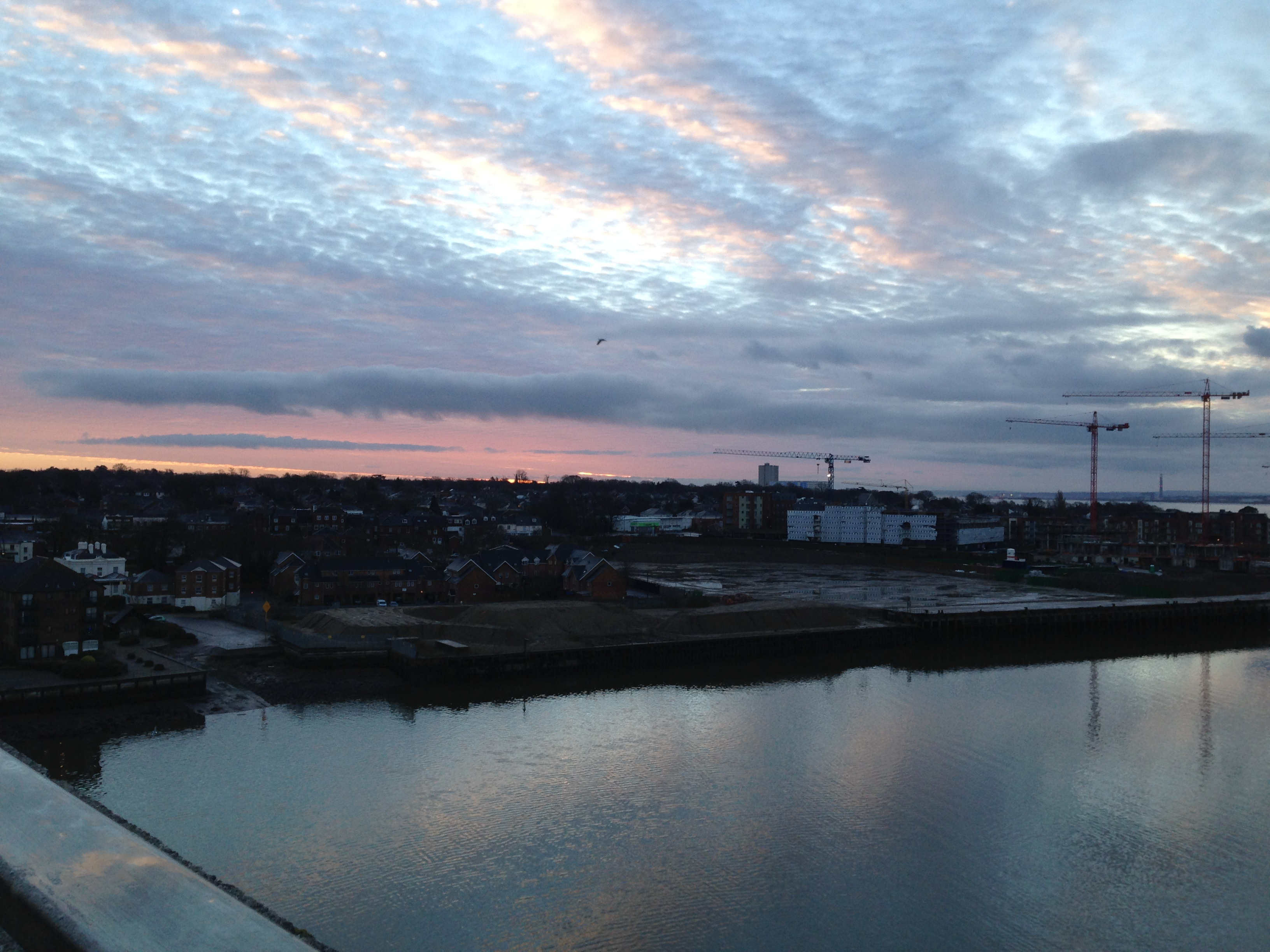 The sky over Woolston
