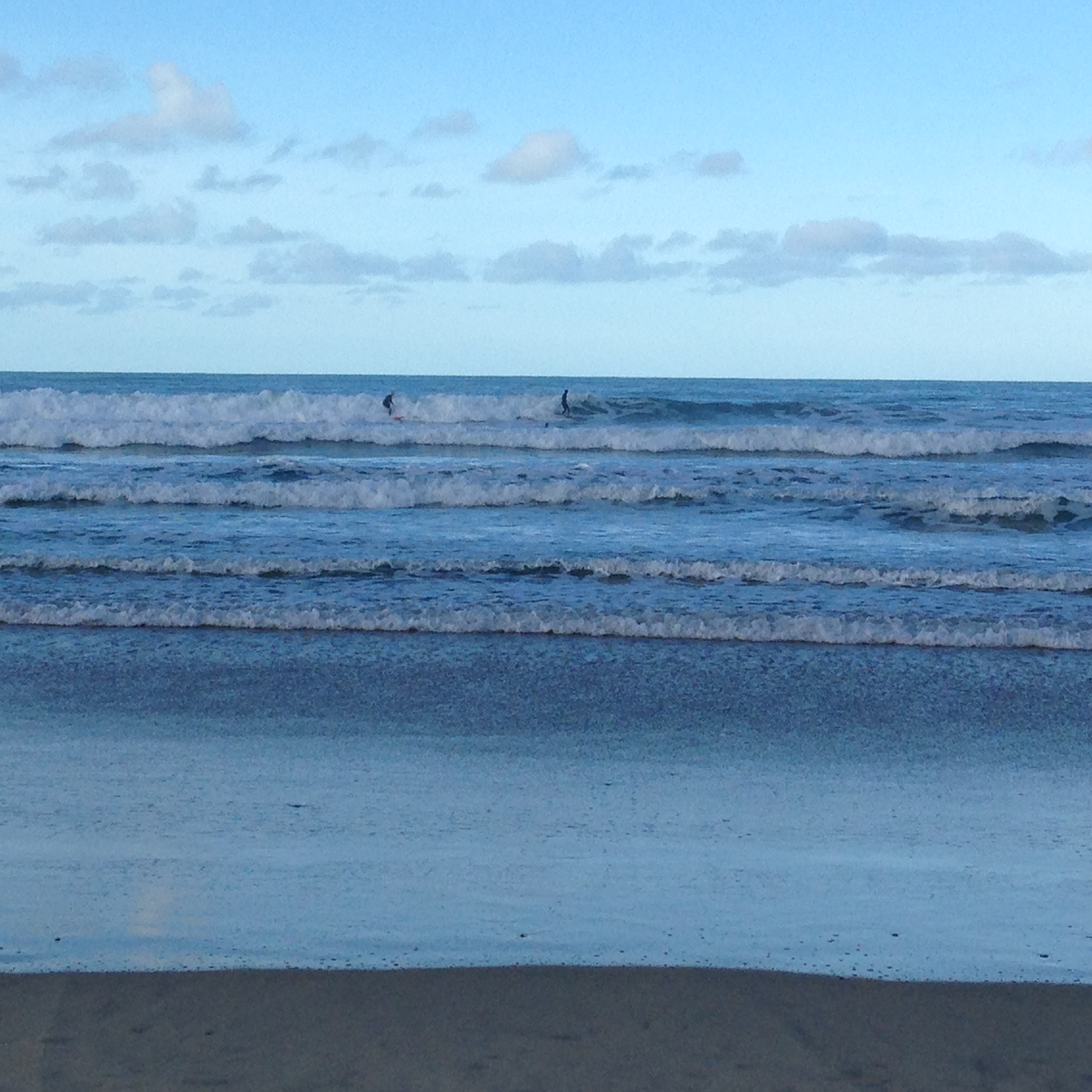 There were a lot of surfers