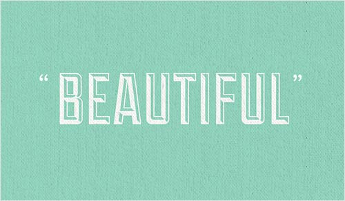 Decorative image of the word 'Beautiful'