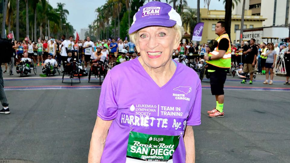 Image of Harriette Thompson at a race