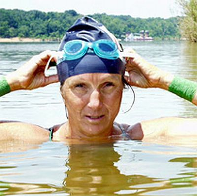Mimi Hughes in the water
