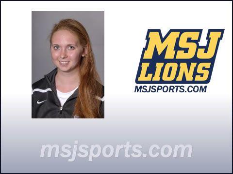 Lauren Hill with MSJ Lions logo