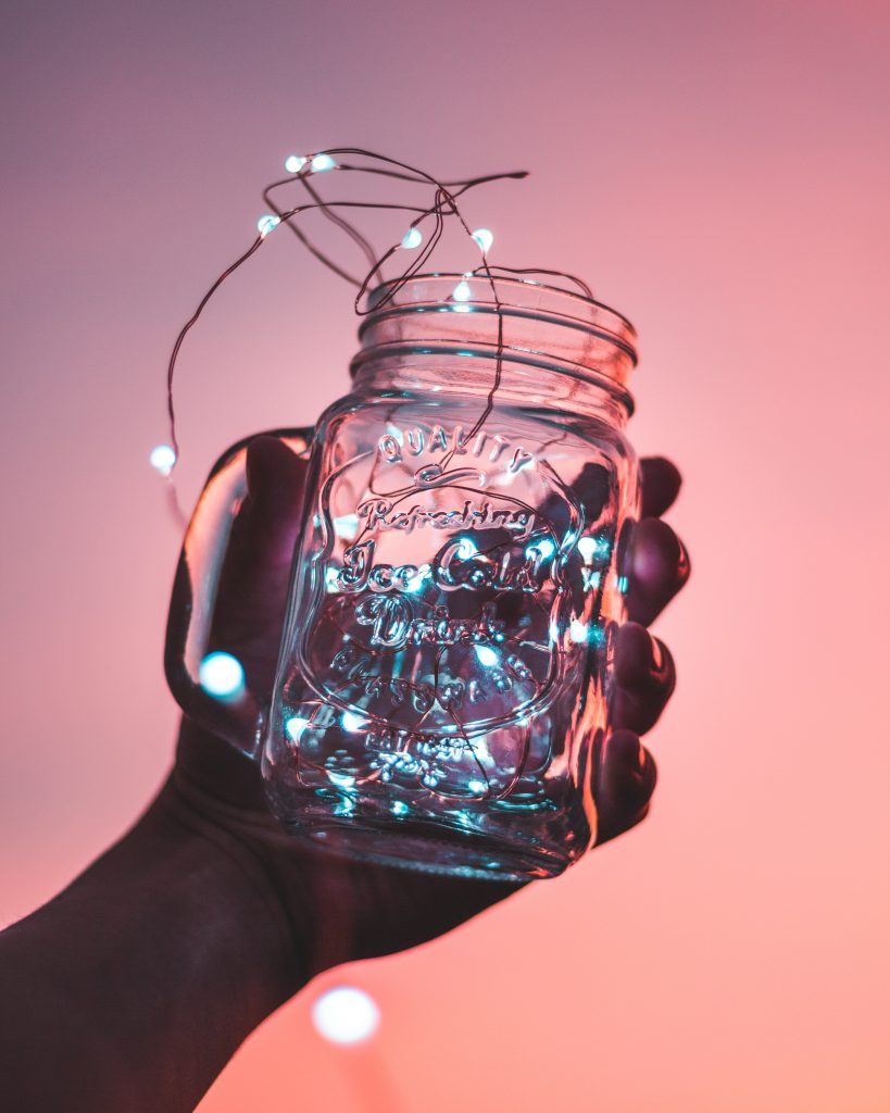 Jar with lights in it