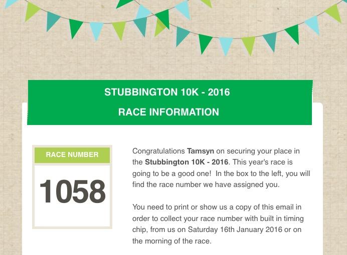 Stubbington 10k entry 2016