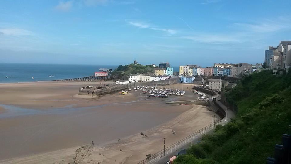 Looking towards the lifeboat station in Tenby.