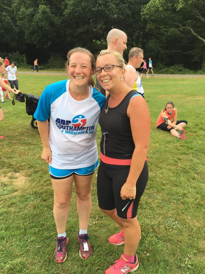 Tamsyn and Carmen parkrun 30th July