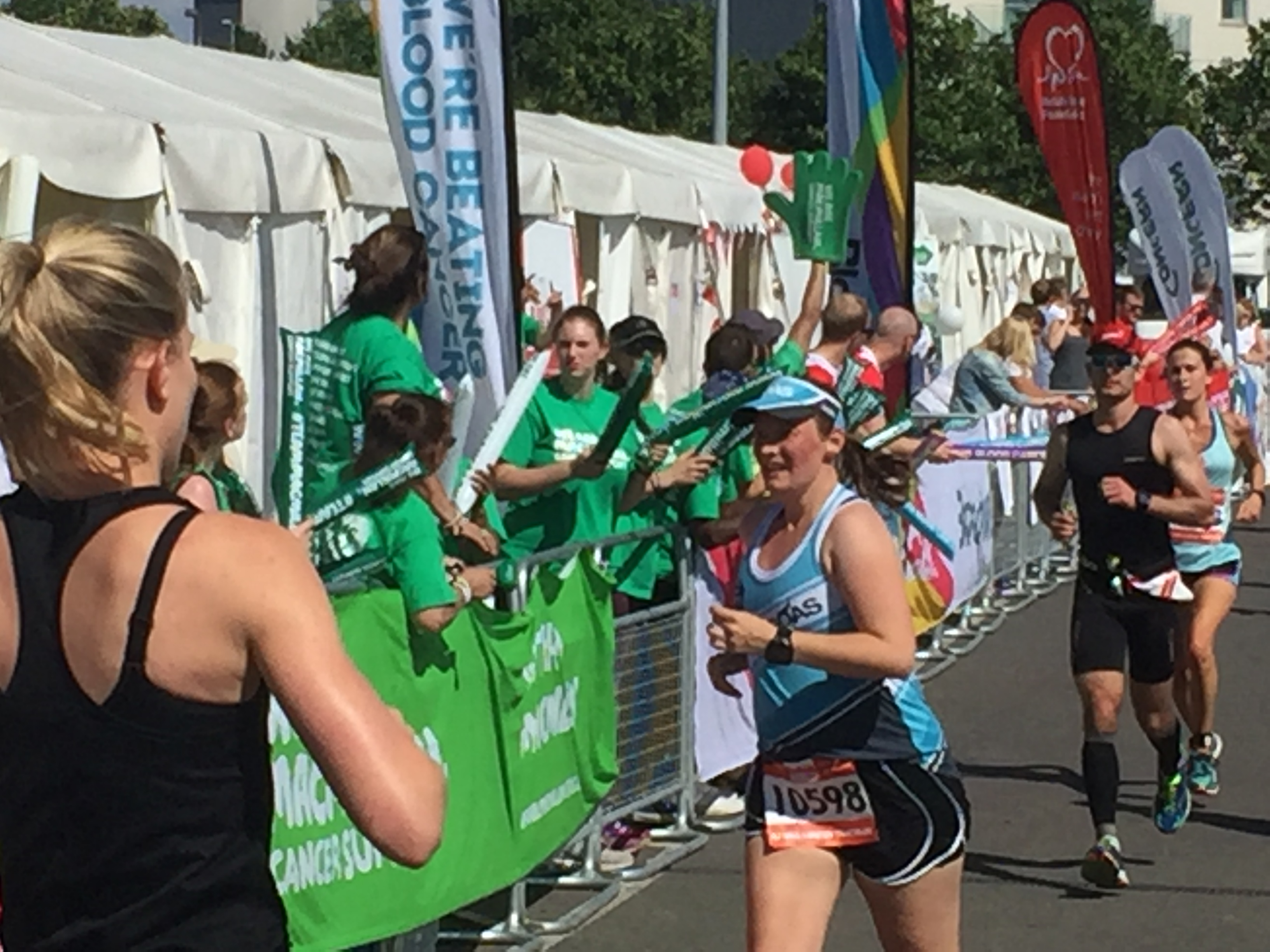 Tamsyn on the run course