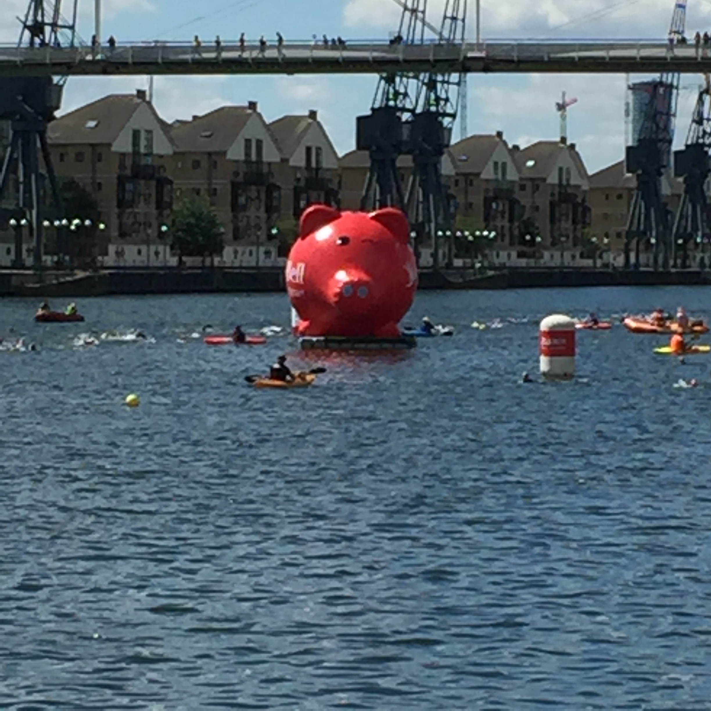 The AJ Bell piggy bank buoy