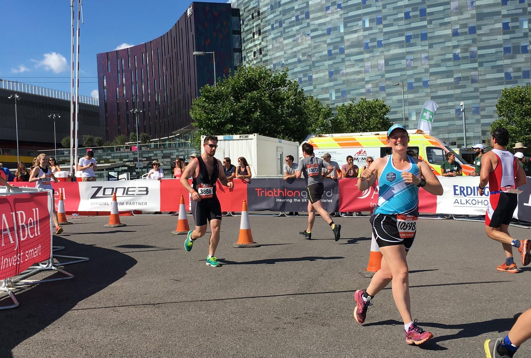 Tamsyn on run course