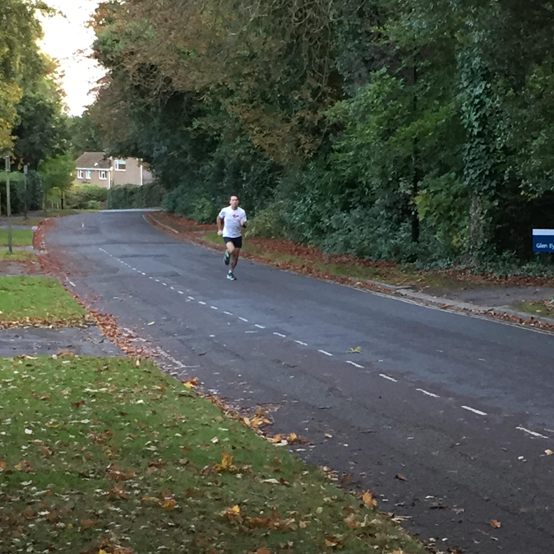 Stuart doing hill sprints
