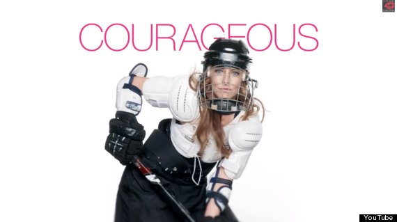 Girls Can Covergirl advert - hockey player.