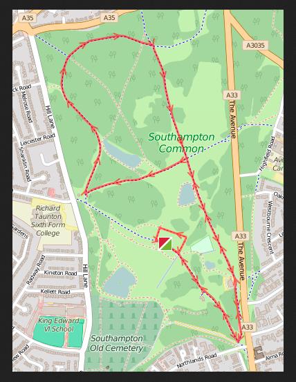 Decathlon 5k route.