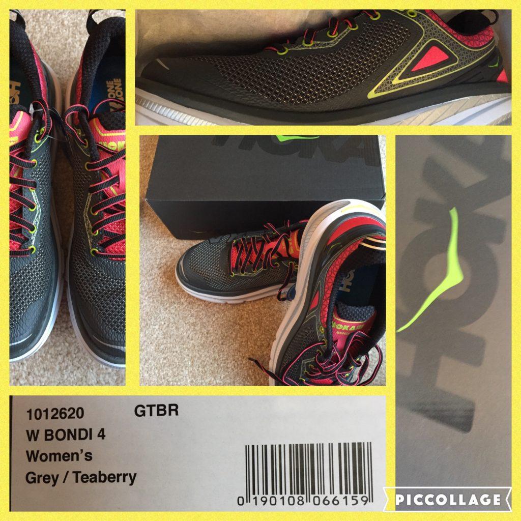 Hoka One One Bondi 4 running shoes.