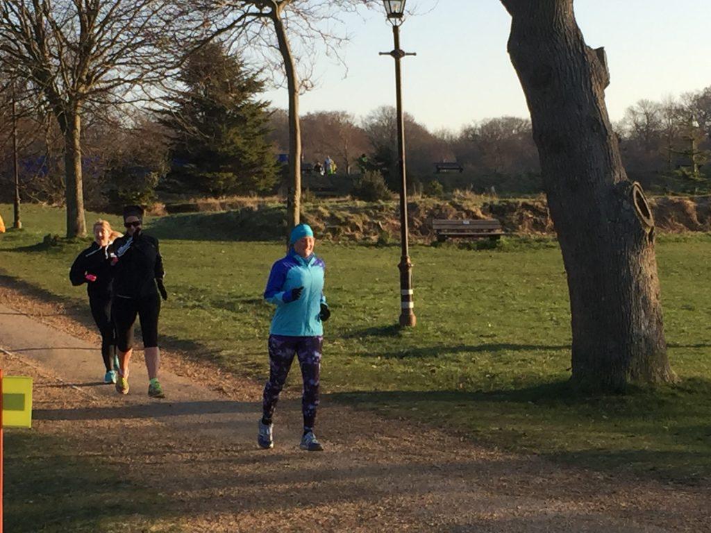 Tamsyn running at Netley Abbey parkrun
