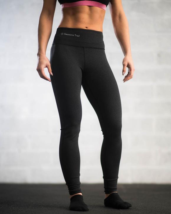 Season's Trail dark grey tights