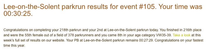 Lee on Solent parkrun 17 June 2017