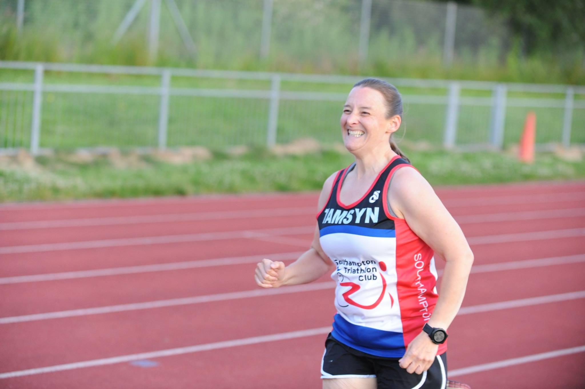 Tamsyn sprinting at Mile of Miles.