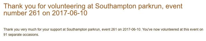 Southampton parkrun 10 June 17.