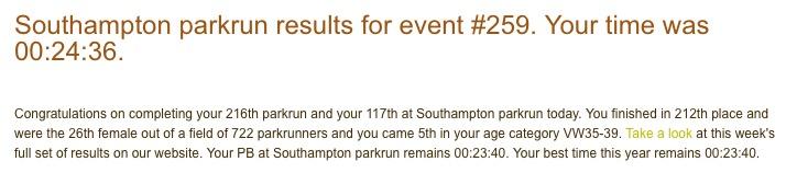 Southampton parkrun 259 27 May 17
