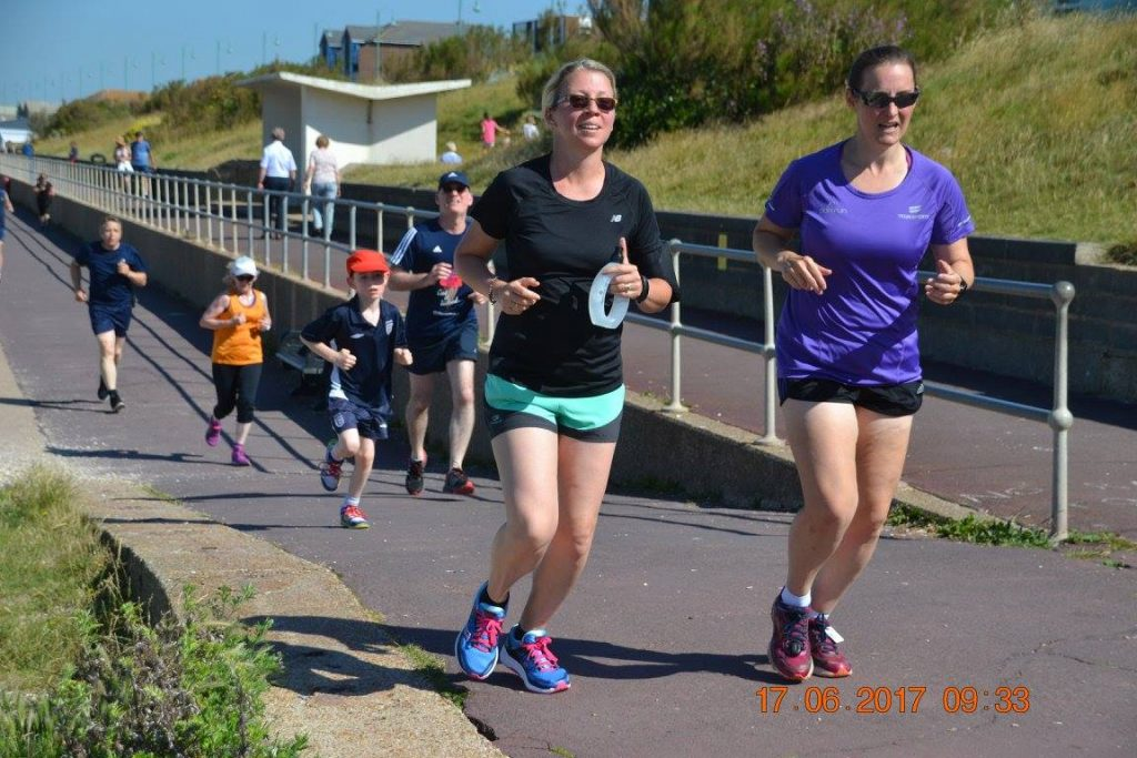 Tamsyn and Sarah at Lee on the Solent parkrun