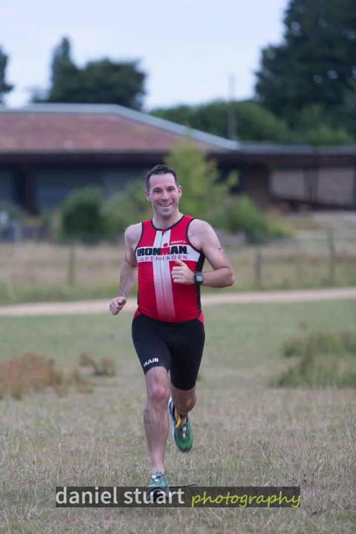 Stuart finishing HOWL aquathlon