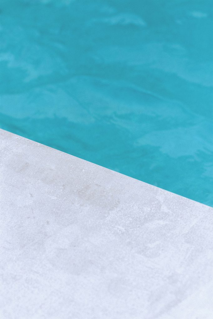 Swimming pool edge and water