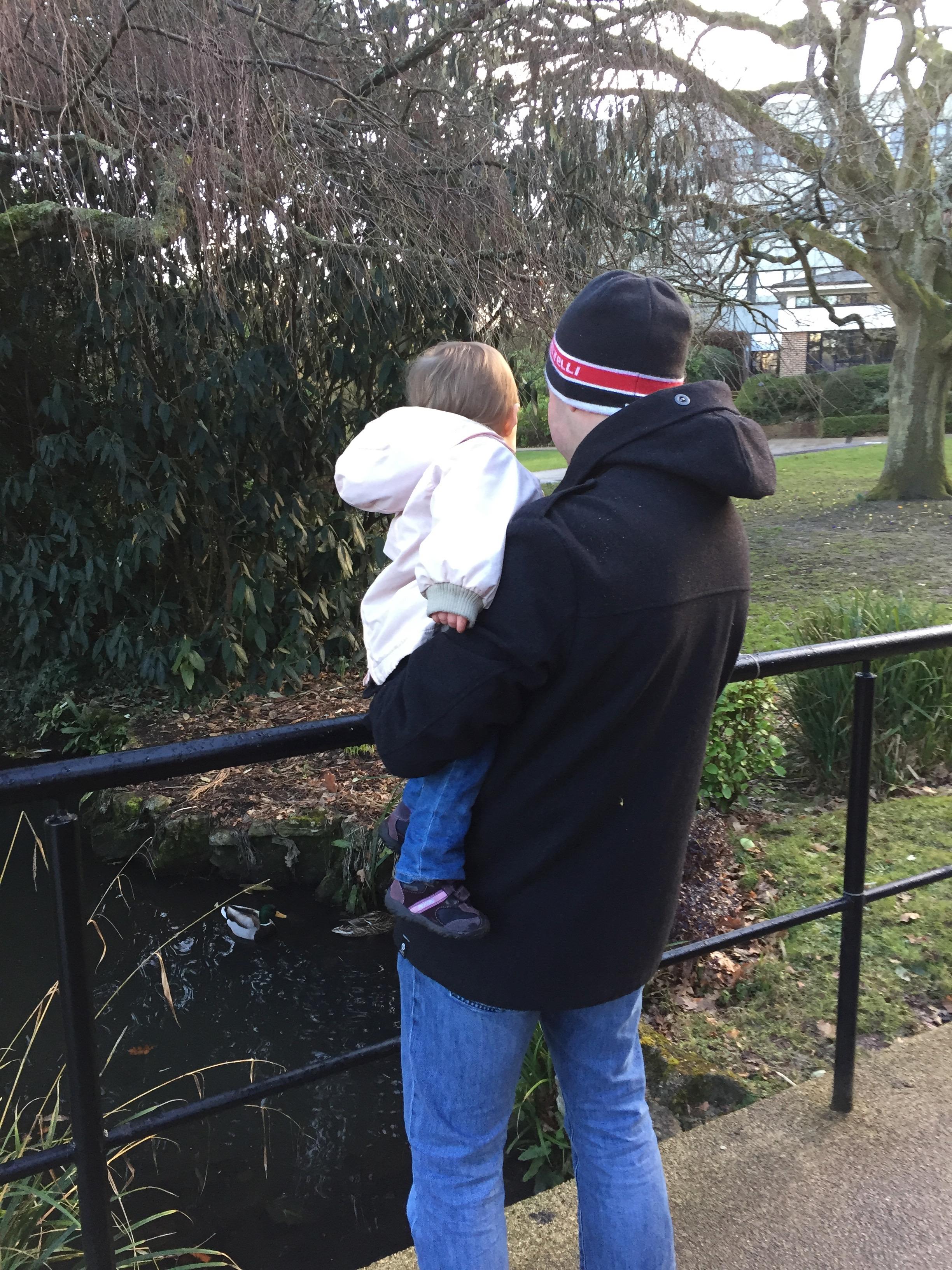 Stu and M watching the ducks.