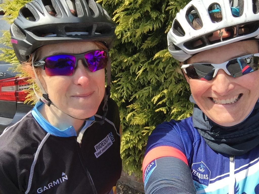 Cycling selfie with Teri
