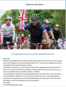 2019 Ride London place