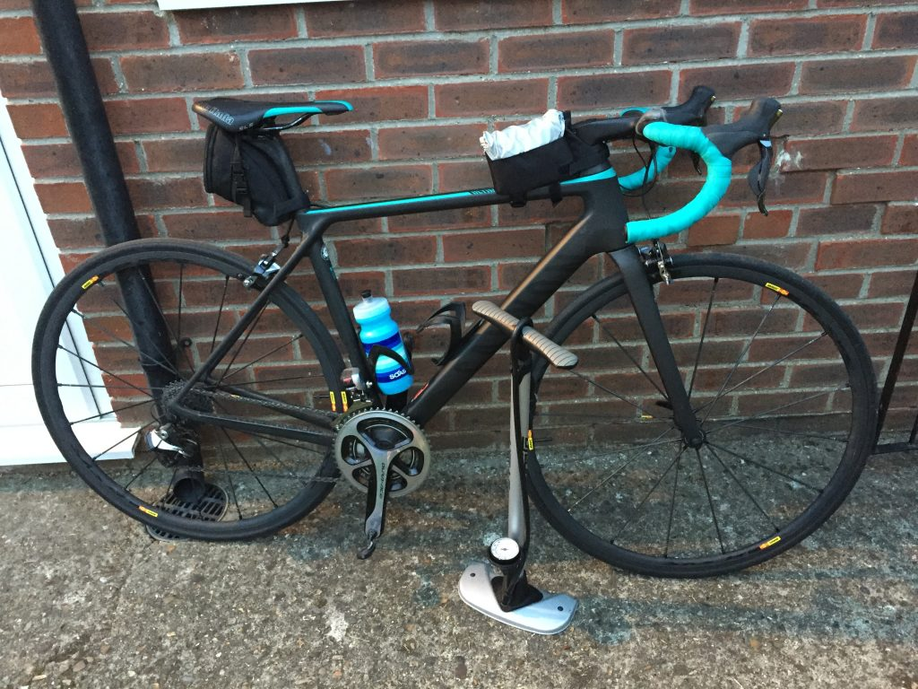 My bike and track pump before going to Revolve24