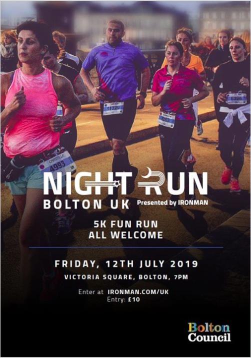 Nightrun advert from Ironman Bolton.