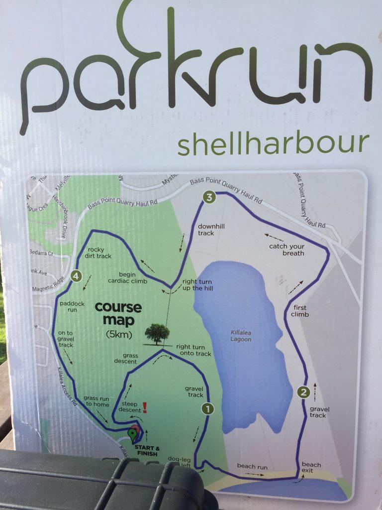 Course map at Shellharbour parkrun.