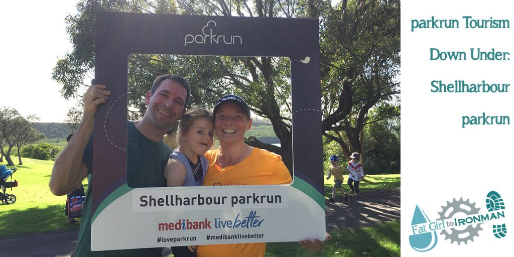 Stuart, Tamsyn and M in the Shellharbour selfie frame.