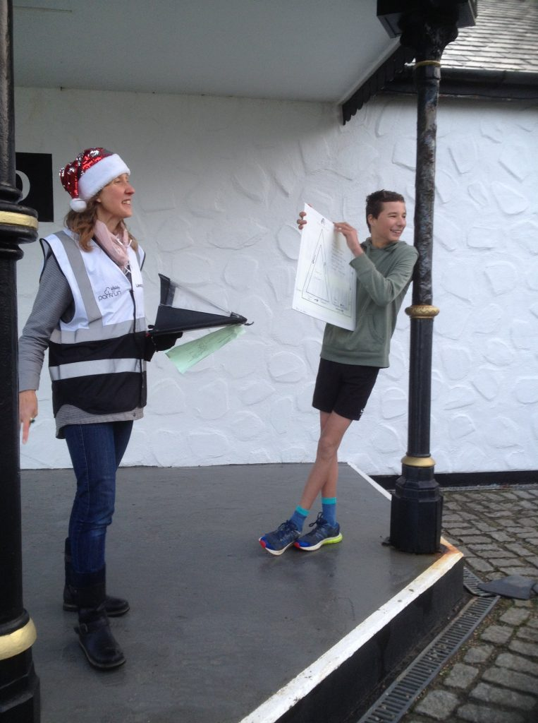 The Run Director giving the briefing at the start of Land's End parkrun.