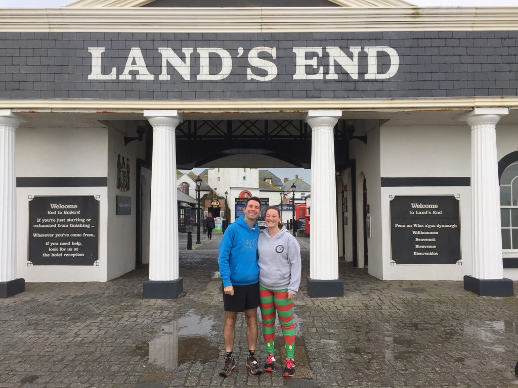 Stuart and Tamsyn Smith at Land's End parkrun.