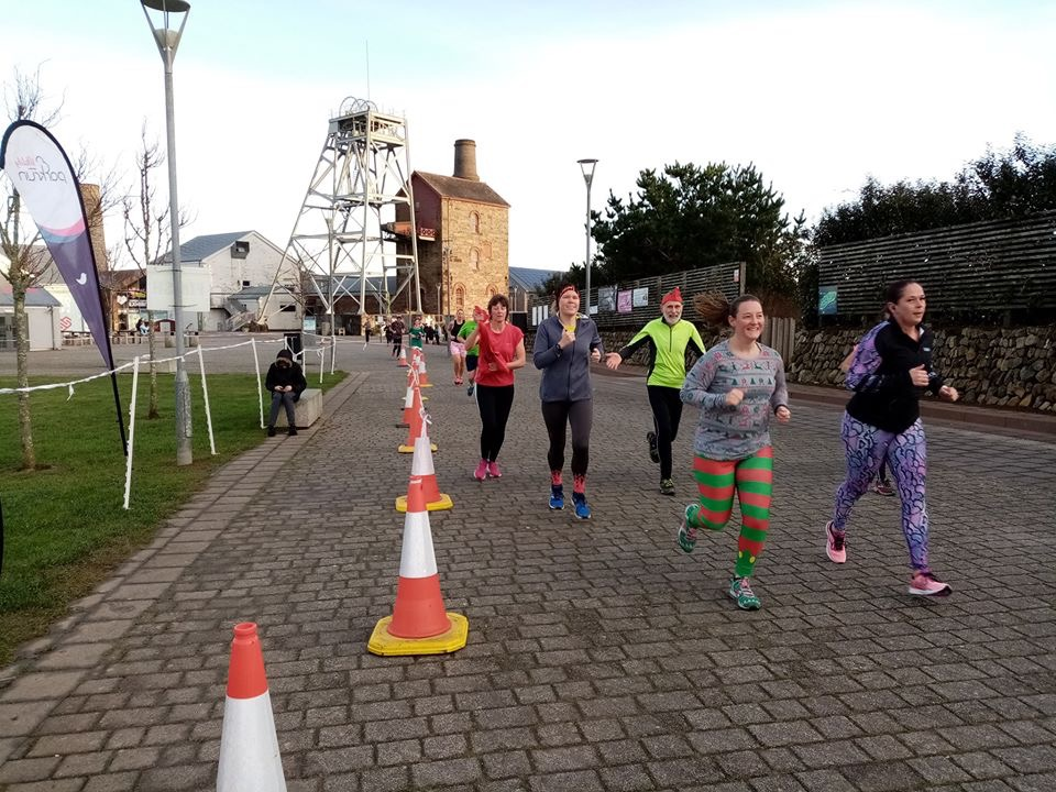 Runners at Heartlands parkrun. Tamsyn is in the photo.