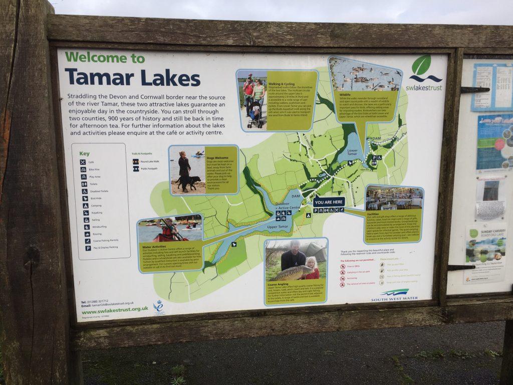 Tamar Lakes information sign.