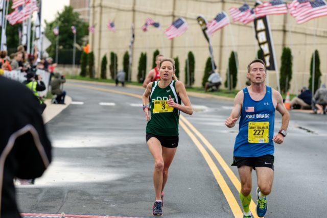 Perry Shoemaker racing at the Army Ten-Miler in 2016.