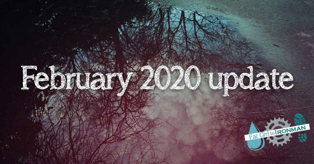 Reflection of a tree in a puddle with the words 'February 2020 update' superimposed on it.