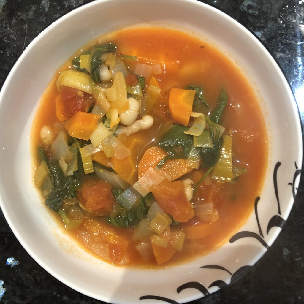 My minestrone soup. The picture doesn't show how delicious it tastes.