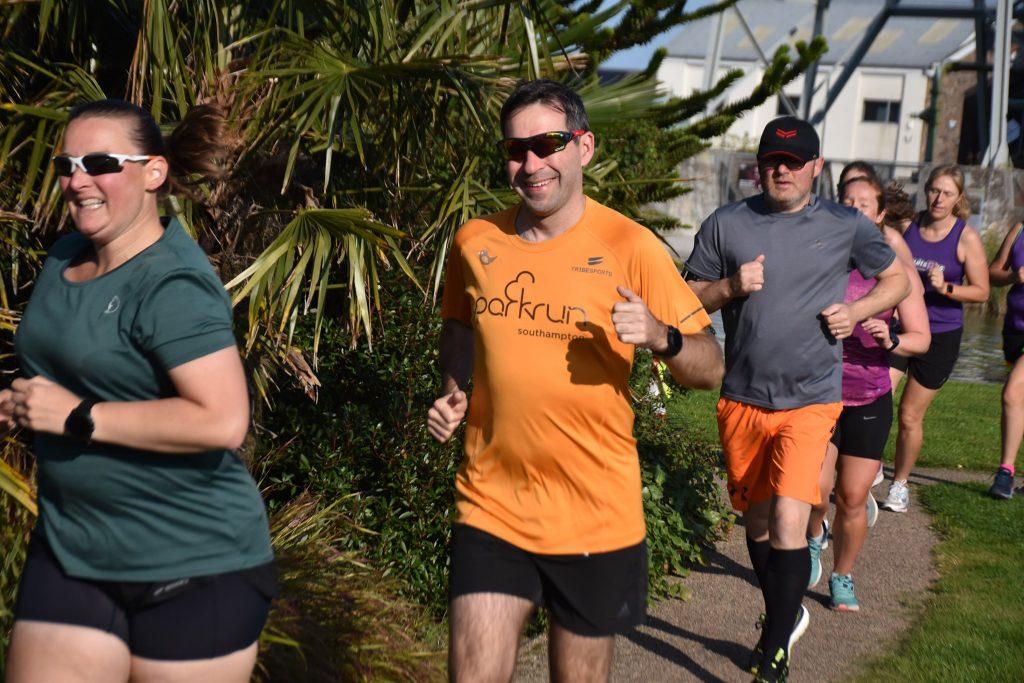 Stu and Tamsyn running.