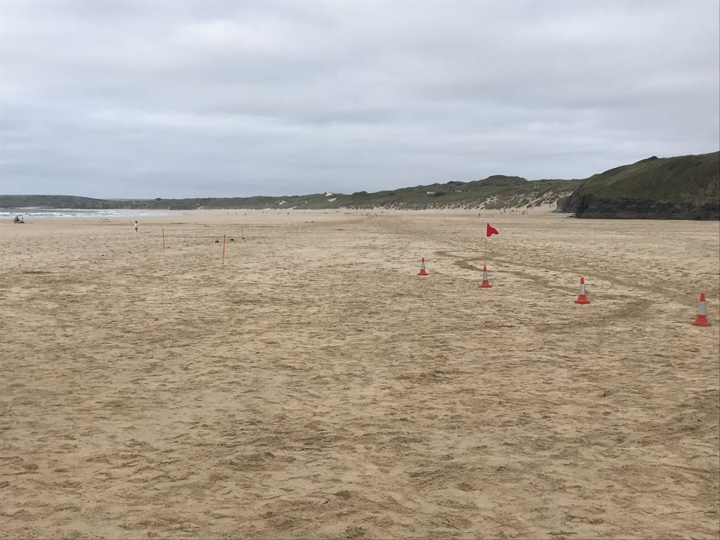 The view towards Gwithian at the start of St Ives Bay 10k.