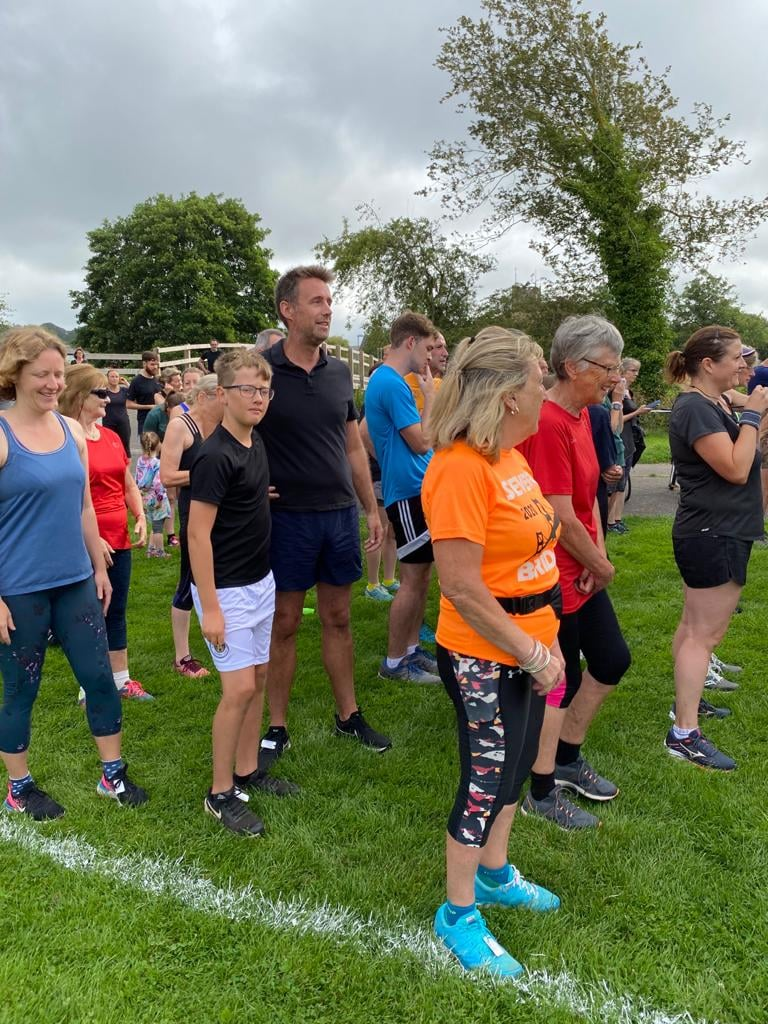 Runners lining up at the start of St Mary's parkrun.